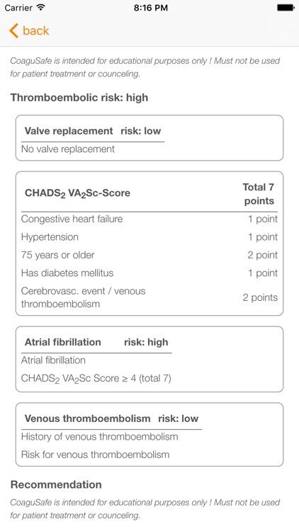 CoaguSafe - Anticoagulant screenshot-4