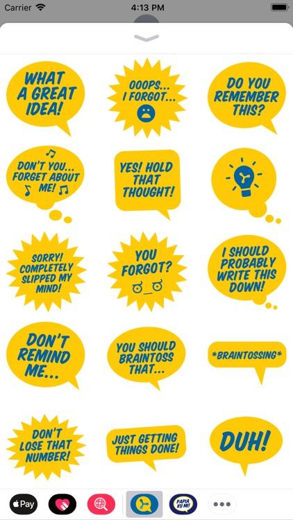 Braintoss Stickers