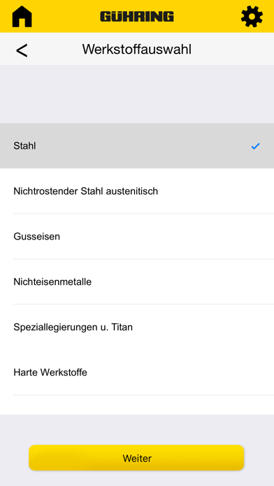Gühring Schnittkraftrechner screenshot four
