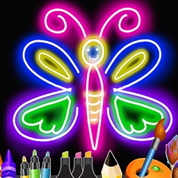 Kids Doodle : Neon lights for kids&drawing