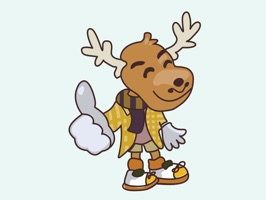 The coolest Moose in town loves to collect shoes