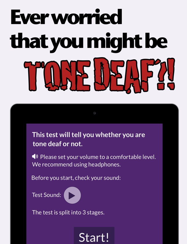 Tone Deaf Test: Check for pitch deafness on the App Store