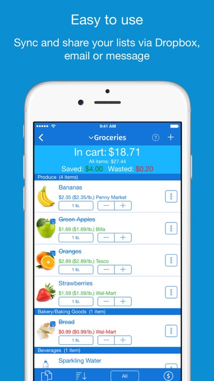 IntelliList - Grocery Shopping List & Price Book screenshot-0