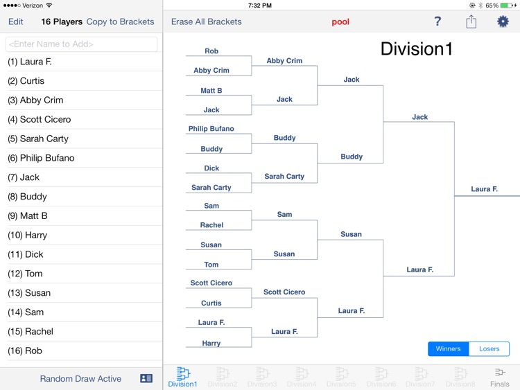 Big Bracket Maker for the iPad screenshot-3