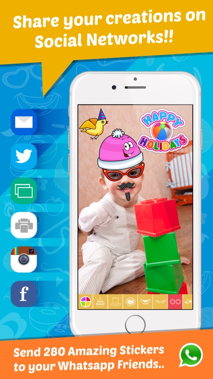 StickonPic Photo booth : Fun sticker app editor and props for adults
