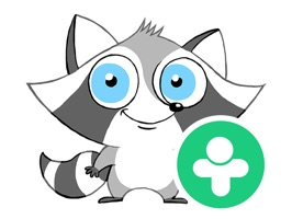 You will love the Little Raccoon stickers