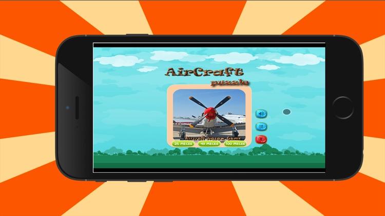 aircrafts jigsaw - Animated Jigsaw Puzzles for Kids with aircraft Cartoons! screenshot-3