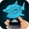 全息3D鲨鱼模拟器