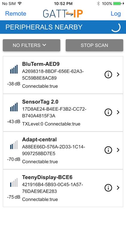 GATT-IP - Bluetooth SMART/LE Proxy Protocol by Vensi, Inc