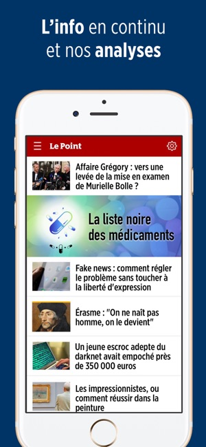 le point magazine d actualit s dans l app store. Black Bedroom Furniture Sets. Home Design Ideas