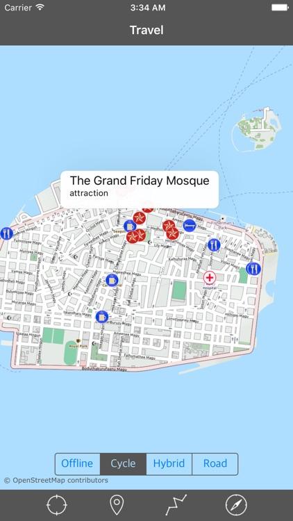 MALDIVES – GPS Travel Map Offline Navigator