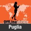 Apulien Offline Karte und Reiseführer