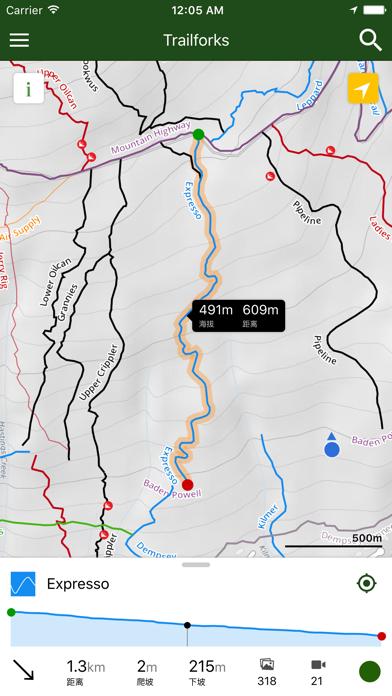 Screenshot for Trailforks - 越野单车径地图 in China App Store