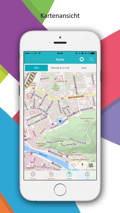 Salzburg Verkehr Screenshot on iOS