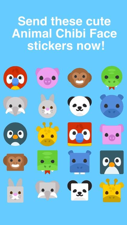 Animal Chibi Face Stickers