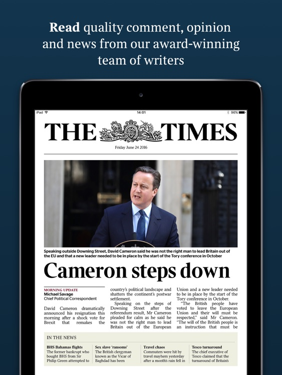 The Times of London for iPad
