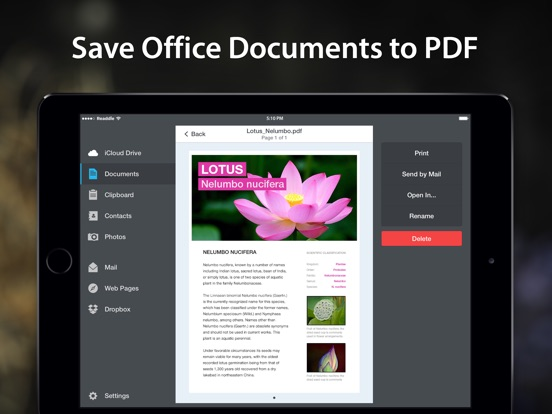 Screenshot #2 for PDF Converter by Readdle