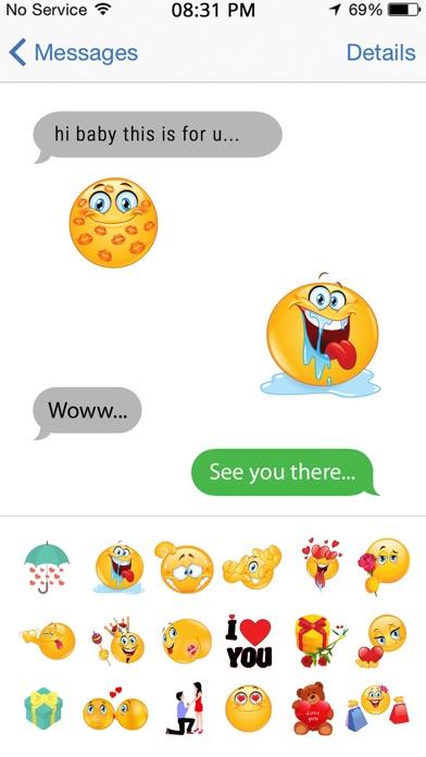 Romantic emoji messages