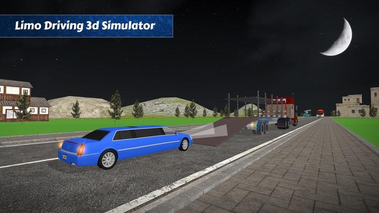 Limo Car Transporter Trailer Truck 3D screenshot-4