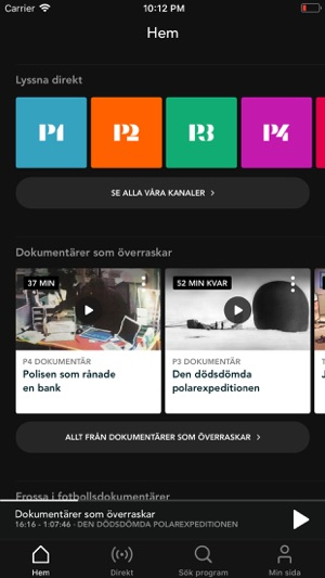 how to play radio on iphone sveriges radio play i app 6733