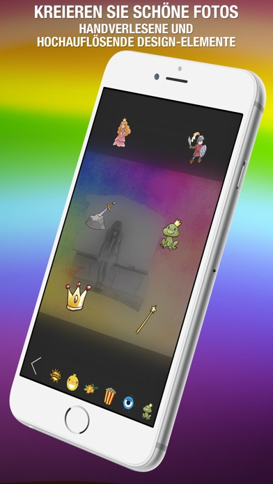 Shape Over Pic Fortgeschrittener text und bildbearbeitung - Hinzufügen auflage silhouette, symbole und bilderrahmen über bildScreenshot von 2