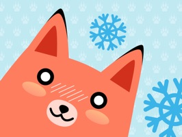 Make your conversation cuter with these Moji Fox Stickers