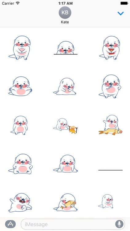 Animated Funny Otter Sticker