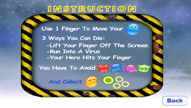 Avoid The Virus Attack FREE - With Your Finger Move