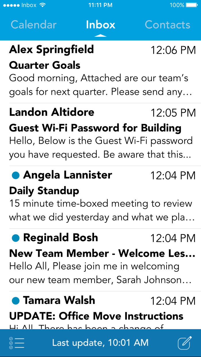 AirWatch Inbox Screenshot