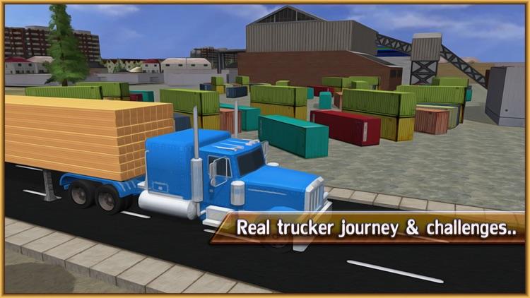 Wood Transporter Truck – Cargo Trailer Driving