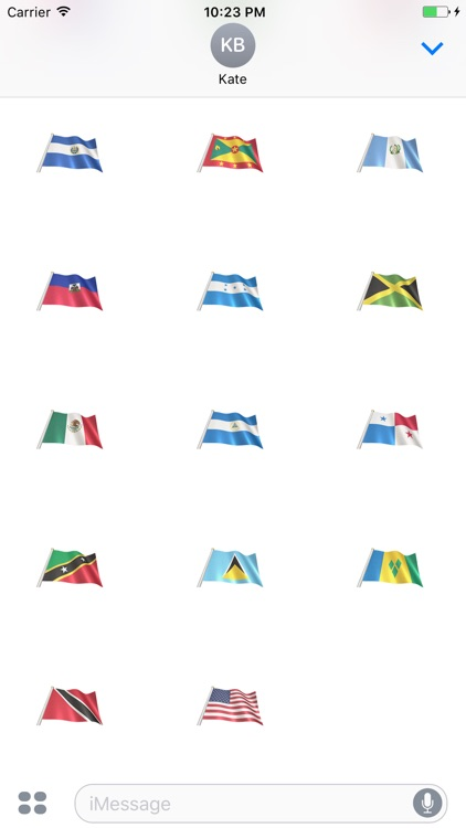 North America Flags