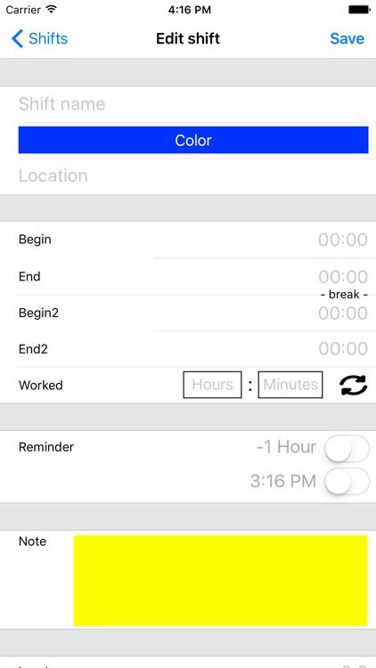 FlexR (Shift planner)