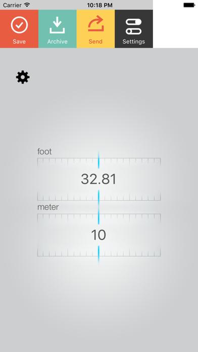 Foot Meter Screenshot