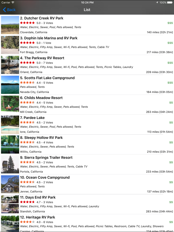 RV Parks & Campgrounds screenshot
