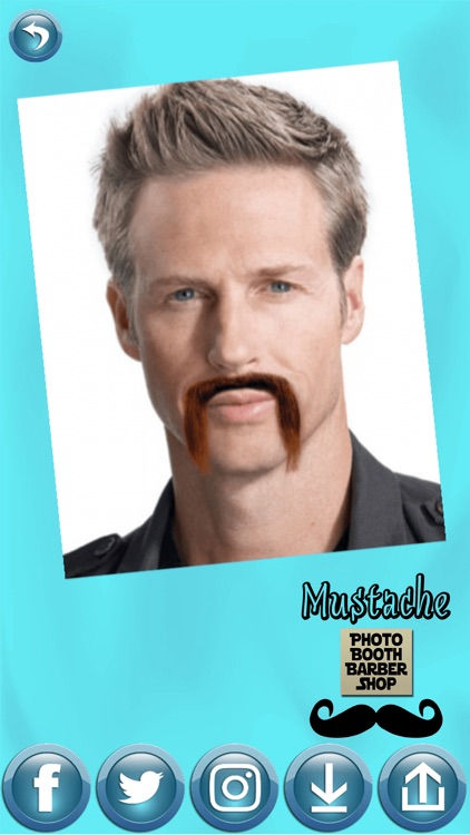 Mustache Photo Booth Barber Shop - Men Hair Salon
