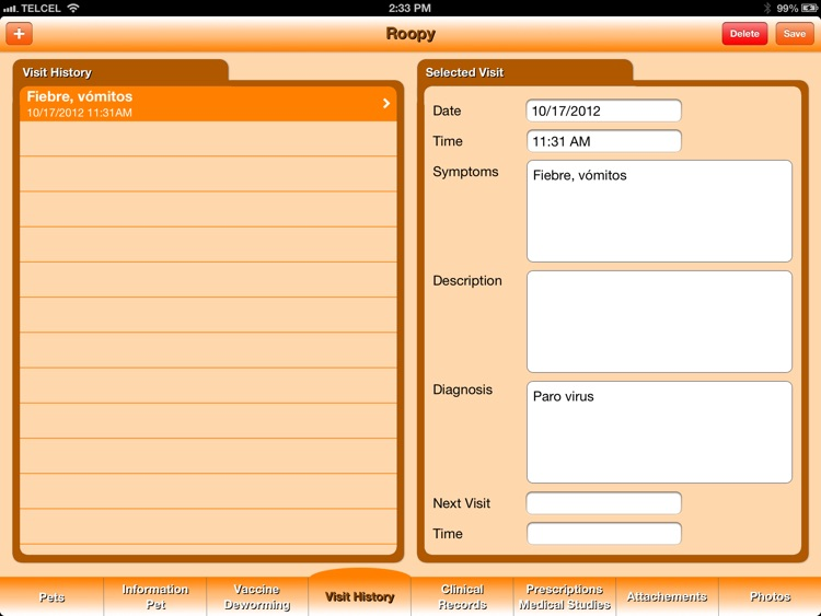 Pet's Veterinary Records screenshot-4