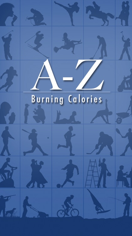 A-Z Burning Calories -  the calories burned calculator for activities based on the metabolic equivalent