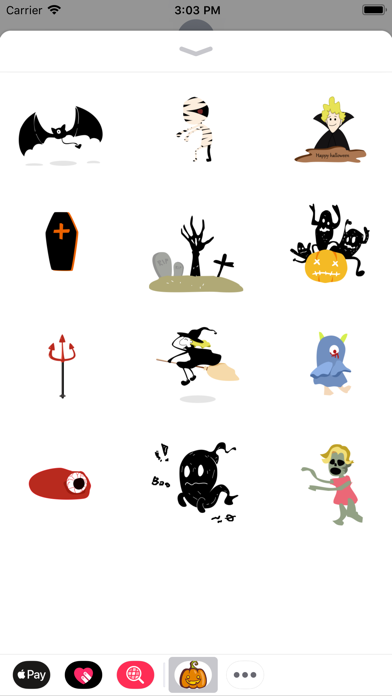 Halloween Stickers:Nightmare screenshot three