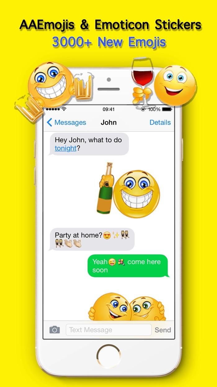 AA Emoji Keyboard - Animated Smiley Me Adult Icons Screenshot