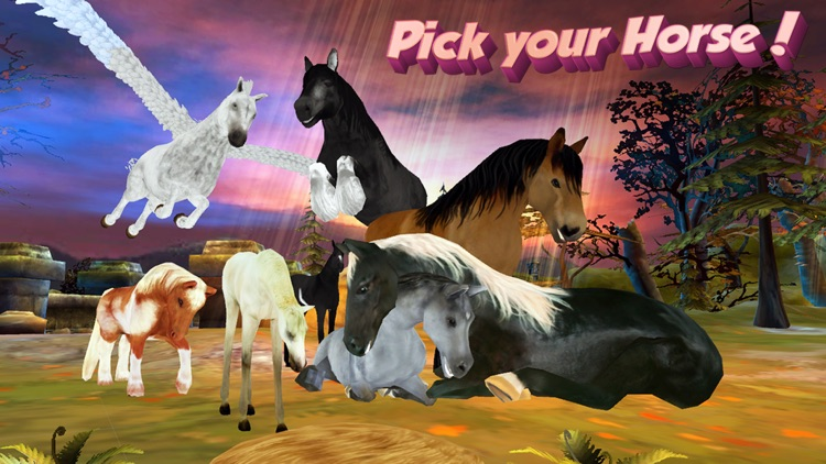 Horse Quest Online 3D Simulator - My Multiplayer Pony Adventure screenshot-0