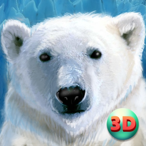 Wild White Polar Bear Simulator icon