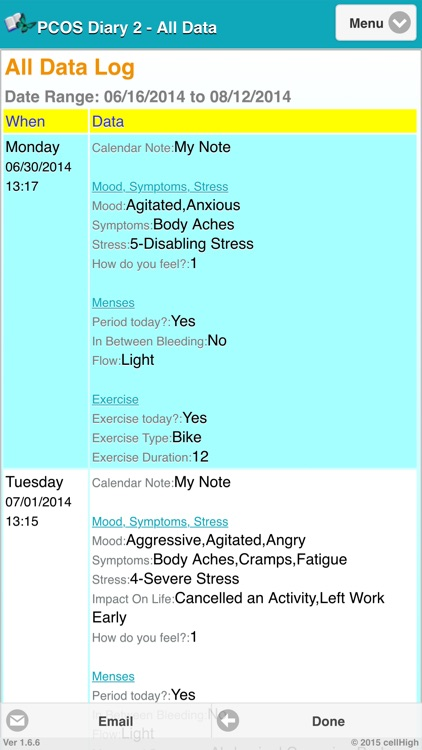 PCOS Diary 2 screenshot-3