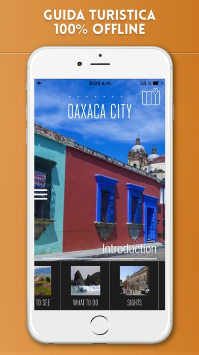 Screenshot of Oaxaca Guida Turistica con Mappe Offline1