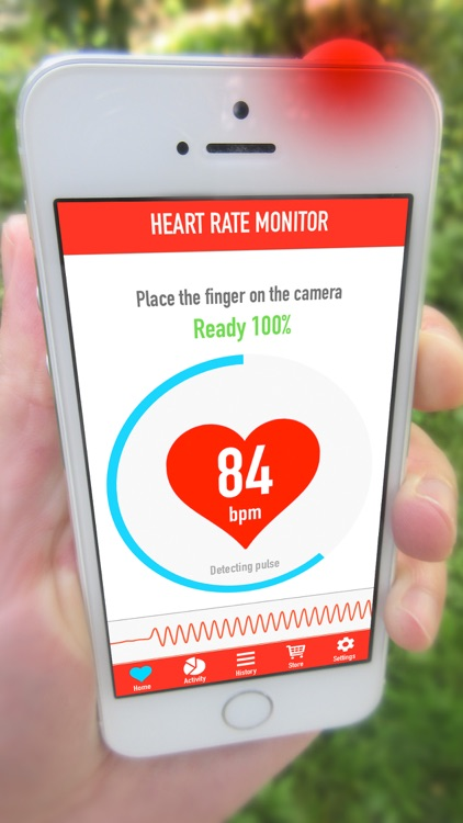 Instant Heart Rate Monitor - Heartbeat Pulse Rate Cardiogram Tracker