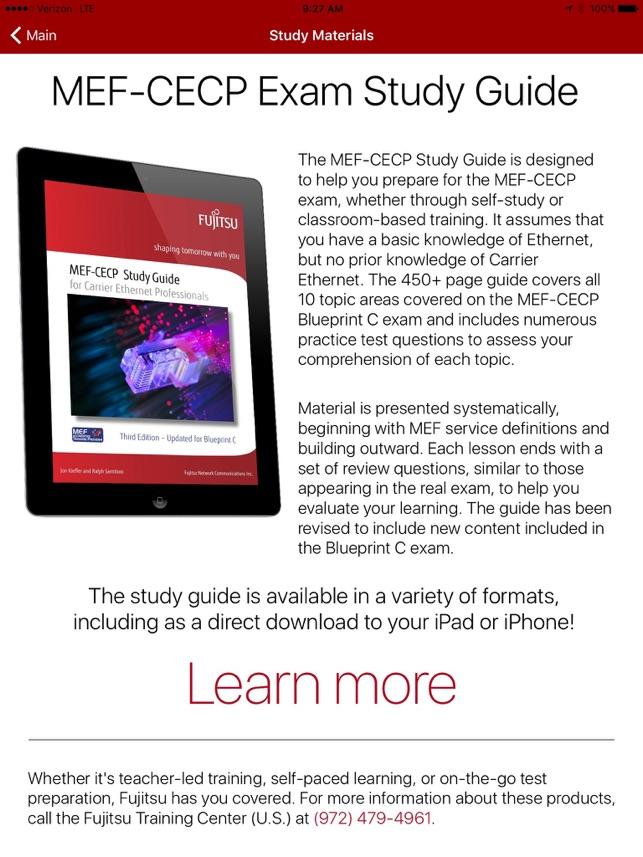 Mef cecp exam trainer blueprint c on the app store malvernweather Image collections