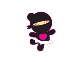 Dont fight, add fun and romance into your messages with our cute ninjas