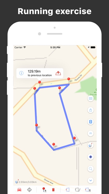 DistanceMe - Map Distance Calculator, Direction & Route Manager screenshot-2