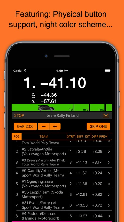 RallyTime Pro: Ski & Rally Car Timing screenshot-4