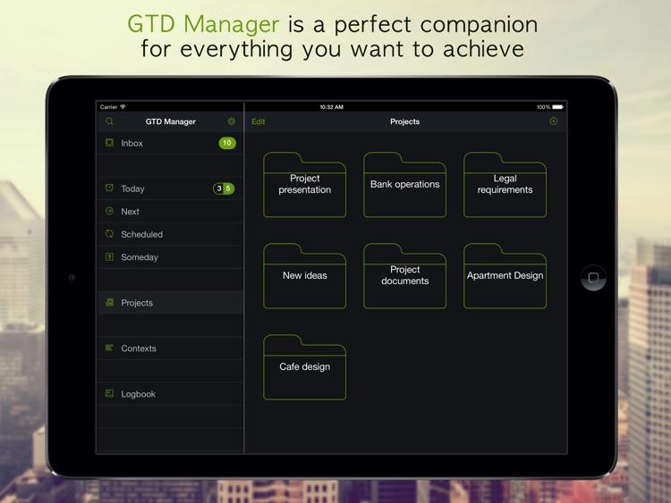 GTD Manager for iPad