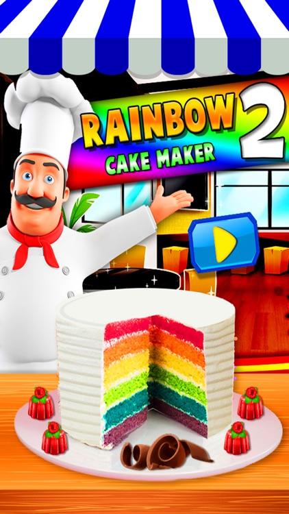 Rainbow Cake Maker - Cooking Rainbow Birthday Cake